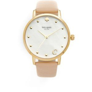 Kate Spade Metro monogram C watch blush gold